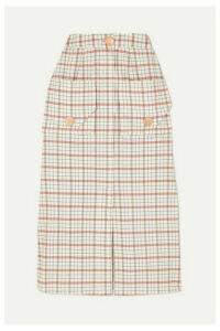 Nicholas - Checked Tencel-blend Midi Skirt - Beige