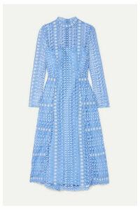 Temperley London - Guipure Lace Midi Dress - Light blue