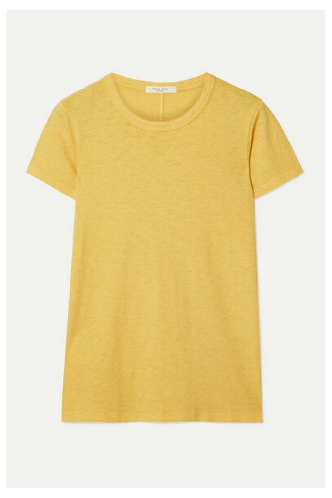 rag & bone - The Tee Pima Cotton-jersey T-shirt - Yellow