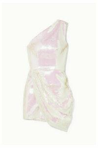 Alex Perry - Kea One-shoulder Sequined Satin Mini Dress - Ivory