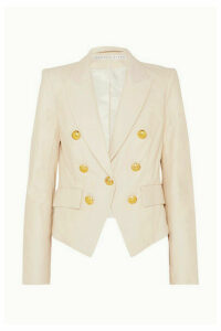 Veronica Beard - Cooke Leather Blazer - Ivory