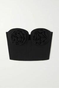 Alex Perry - Brooks Strapless Fil Coupé Silk-blend Chiffon Gown - Black
