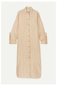 Jil Sander - Striped Twill Maxi Dress - Orange