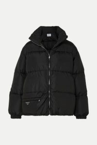 Prada - Hooded Quilted Nylon Down Coat - Black