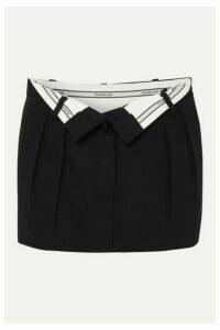 Alexander Wang - Fold-over Wool Mini Skirt - Black
