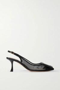 Prada - Pleated Floral-print Cotton Midi Skirt - Black