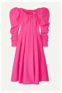 REJINA PYO - Carla Pleated Crepe Midi Dress - Fuchsia