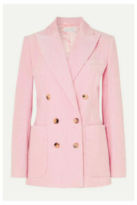 Bella Freud - Bianca Double-breasted Cotton-corduroy Blazer - Pink