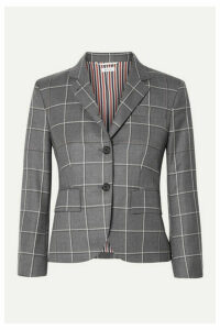 Thom Browne - Checked Wool Blazer - Gray