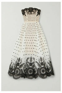 Oscar de la Renta - Strapless Embroidered Tulle Gown - Ivory