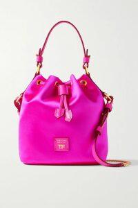Preen Line - Maieka Ruffled Paneled Printed Crepe De Chine Wrap Maxi Dress - Orange