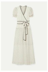 Diane von Furstenberg - Celeste Fil Coupé Chiffon Wrap Maxi Dress - Cream