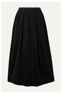 Atlantique Ascoli - Cotton-corduroy Midi Skirt - Black