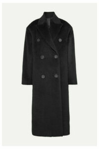 Acne Studios - Octania Oversized Double-breasted Alpaca And Wool-blend Coat - Black