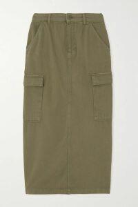 Oscar de la Renta - Paneled Stretch-knit Turtleneck Midi Dress - Black