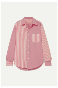 Solid & Striped - + Re/done Striped Cotton-poplin Shirt - Red