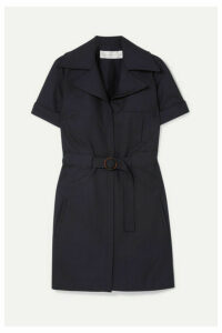 Victoria, Victoria Beckham - Belted Twill Mini Dress - Navy