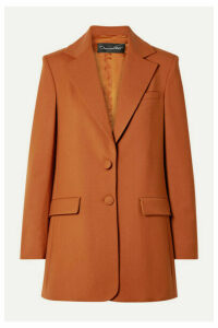 Oscar de la Renta - Oversized Wool-blend Twill Blazer - Orange