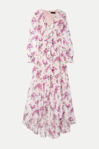 Rachel Zoe - Thea Ruffled Floral-print Chiffon Maxi Dress - White