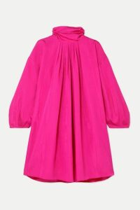 Nackiyé - Frou-frou Gathered Moire Mini Dress - Pink