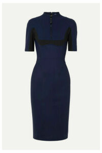 Mugler - Paneled Stretch-scuba Dress - Navy