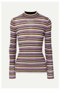 Missoni - Striped Metallic Crochet-knit Top - Purple