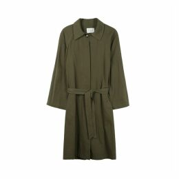 Cotton Trench Coat with Pockets