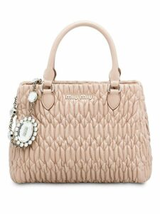 Miu Miu Cloqué nappa leather bag - Neutrals