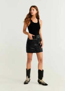 Leather miniskirt
