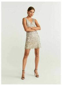 Sequin appliqué dress