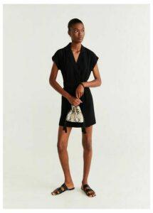 Bow lapels dress