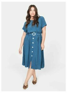 Polka-dot belt dress