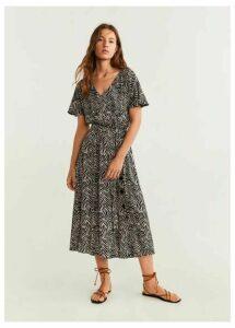 Belt midi dress