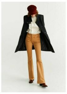 Straight-cut wool coat