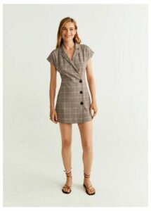 Buttoned printed dress