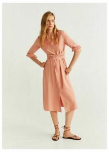 Buttoned bow dress
