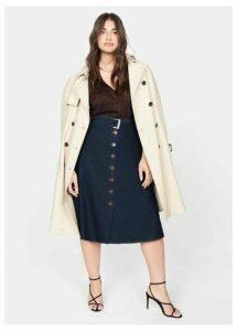 Denim belt skirt