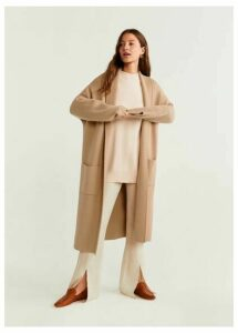 Knitted unstructured coat