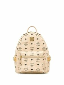 MCM logo print backpack - Neutrals