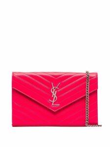 Saint Laurent Malt monogram envelope mini bag - Pink