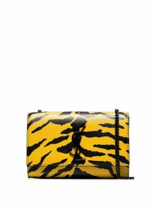 Saint Laurent Kate zebra print shoulder bag - Yellow