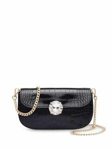 Miu Miu crocodile effect mini bag - Black