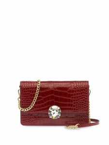 Miu Miu crocodile embossed shoulder bag - Red