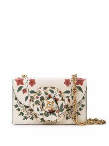 Oscar de la Renta mini Tro print shoulder bag - White