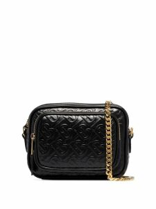 Burberry Monogram embossed camera bag - Black