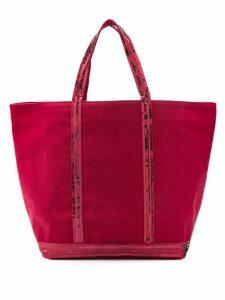 Vanessa Bruno sequin trim tote - Red