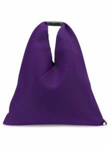 Mm6 Maison Margiela oversized mesh tote bag - Purple