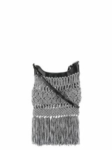 Isabel Marant fringed cross body bag - Silver