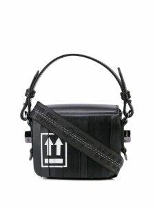 Off-White strip detail mini bag - Black