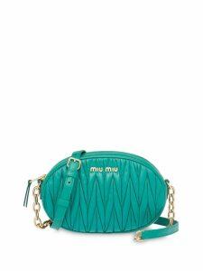 Miu Miu matelassé oval-shape shoulder bag - Green